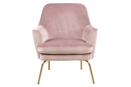 ACTONA Fotel Chisa VIC Dusty Rose/ Gold