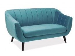 SOFA ELITE 2 VELVET TURKUS BLUVEL 85 / WENGE (T)